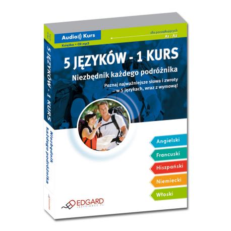 5 języków - 1 kurs Niezbędnik każdego podróżnika (Książka + CD mp3)