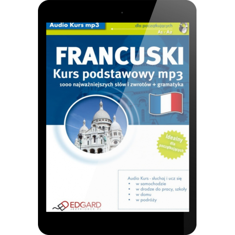Francuski Kurs podstawowy mp3 (E-book + mp3)