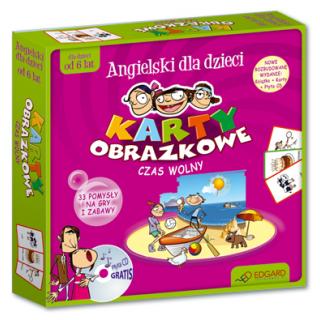 Angielski dla dzieci Karty obrazkowe Czas wolny (od 6 lat) (104 ilustrowane karty + poradnik + płyta CD)