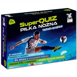 Kapitan Nauka Pakiet SuperQuiz Piłka nożna 7+ (książeczka + plansza XXL + żetony)