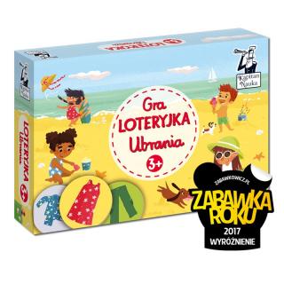 Kapitan Nauka Gra Loteryjka Ubrania 3+ (plansze + żetony)