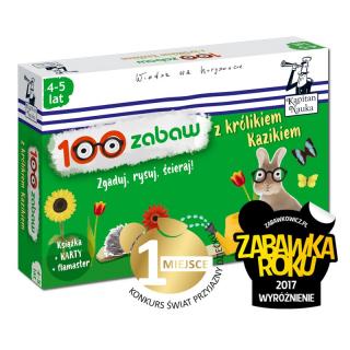 100 zabaw z królikiem Kazikiem 4-5 lat (Książka...