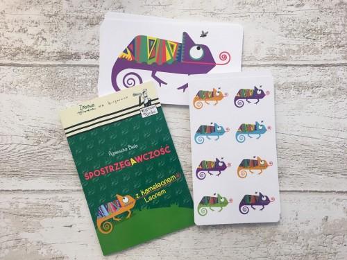 Kapitan Nauka. Spostrzegawczość z kameleonem Leonem 6-9 lat  (Książka + 48 kart do gry)