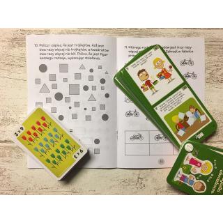 Kapitan Nauka. Zabawy matematyczne dla ucznia 7+ (gra karciana + książka z zadaniami + karty)