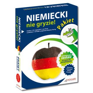 Pakiet Niemiecki nie gryzie! (Książka + CD Audio + 500 fiszek z pudełkiem + CD-ROM z programem Aktywny Trening)