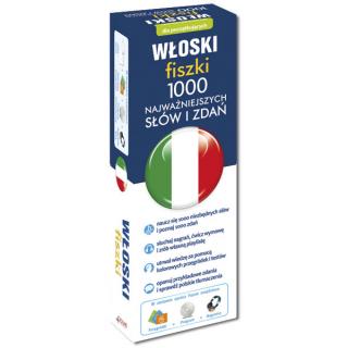 Włoski fiszki 1000 najważniejszych słów i zdań +CD (1000 fiszek + CD-ROM z programem i nagraniami)