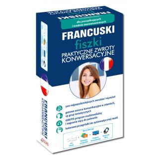 FRANCUSKI fiszki Praktyczne zwroty konwersacyjne (500 fiszek + program i nagrania do pobrania)