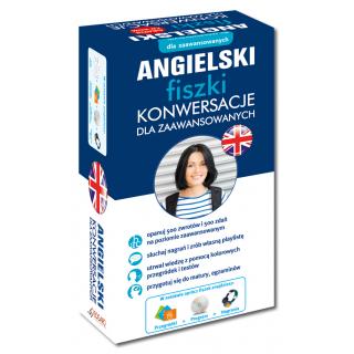 Angielski fiszki Konwersacje dla zaawansowanych +CD  (500 fiszek + CD-ROM MP3 z programem i nagraniami + Kolorowe przegródki)