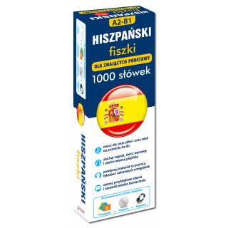 Hiszpański fiszki 1000 słówek dla znających podstawy +CD  (1000 fiszek + CD-ROM MP3 z programem i nagraniami + Kolorowe przegródki)