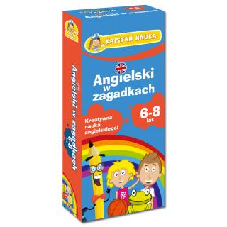 Kapitan Nauka Karty obrazkowe Angielski w zagadkach 6-8 lat (Książeczka z kartami obrazkowymi)