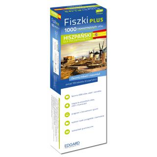 Hiszpański Fiszki PLUS 1000 najważniejszych słów dla początkujących (1000 fiszek + CD-ROM z programem i nagraniami MP3 + Kolorowe przegródki + etui)