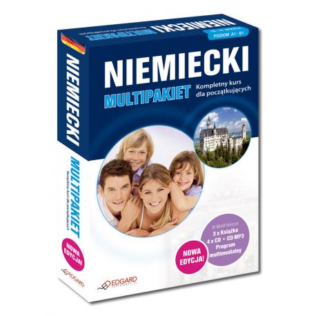 Niemiecki Multipakiet NOWA EDYCJA  (3 x Książka + 4 x CD Audio + MP3 + program multimedialny)