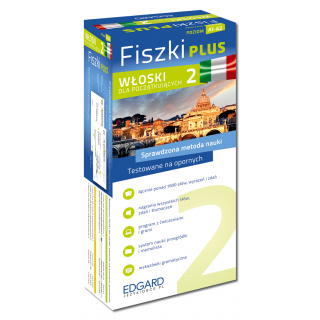 Włoski Fiszki PLUS dla początkujących 2 (600 fiszek + program i nagrania do pobrania + kolorowe przegródki + etui)