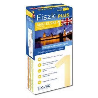 Angielski Fiszki PLUS dla średnio zaawansowanych 1  (600 fiszek + program i nagrania do pobrania + kolorowe przegródki + etui)