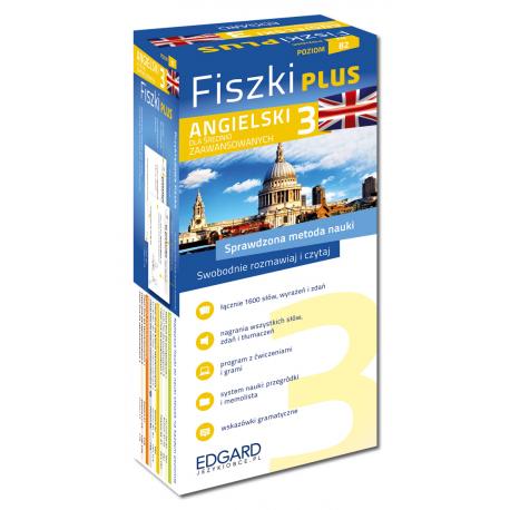 Angielski Fiszki PLUS dla średnio zaawansowanych 3 (600 fiszek + program i nagrania do pobrania + kolorowe przegródki + etui)