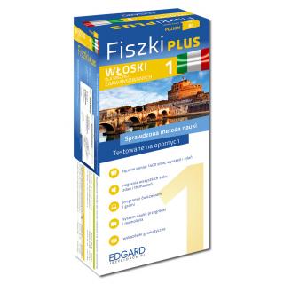 Włoski Fiszki PLUS dla średnio zaawansowanych 1 (600 fiszek + program i nagrania do pobrania + kolorowe przegródki + etui)