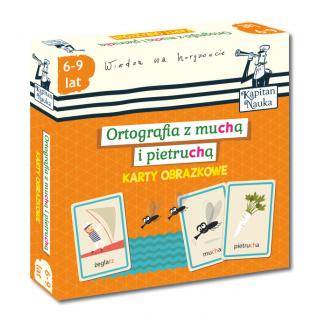 Kapitan Nauka. Ortografia z muchą i pietruchą. 6-9 lat (książeczka + karty obrazkowe)