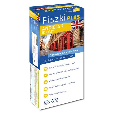 Angielski Fiszki PLUS Idiomy  (600 fiszek + program i nagrania do pobrania + kolorowe przegródki + etui)