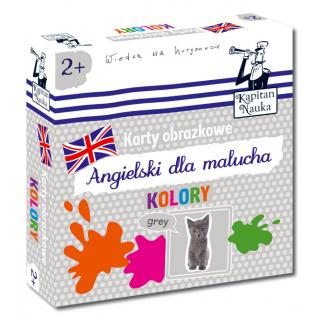 Karty obrazkowe Angielski dla malucha Kolory (Książeczka + 17 ilustrowanych kart )
