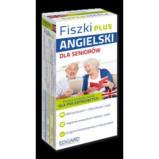 Fiszki PLUS Angielski dla seniorów  (500 fiszek + program i nagrania do pobrania + kolorowe przegródki + etui)
