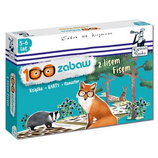 100 zabaw z lisem Fisem 5-6 lat (Książka + 36 ścieralnych kart + flamaster)