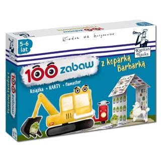 100 zabaw z koparką Barbarką 5-6 lat (Książka + 36 dwustronnych zmywalnych kart + flamaster)