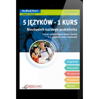 5 języków - 1 kurs Niezbędnik każdego podróżnika (E-book + nagrania mp3)